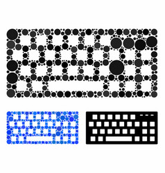 Keyboard composition icon round dots vector