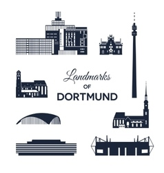 Landmarks of Dortmund vector