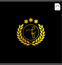 Luxury f initial logo or symbol business company vector