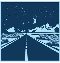 Night highway vector