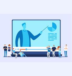 Online education video tutorials internet vector