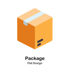 Package flat icon vector