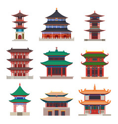 pagoda building chinese or japanese construction vector image