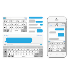 Phone chat interface sms messenger vector