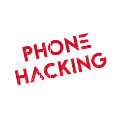 Phone hacking rubber stamp vector