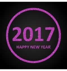 Pink Sequins New 2017 Year Star Circle vector