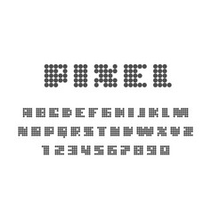 Pixel font on white background uppercase letters vector