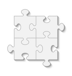 Puzzle piece business presentation vector