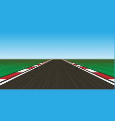 race track vector image