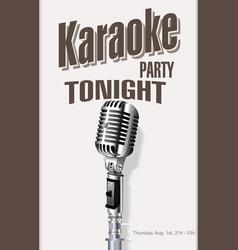retro vintage microphone karaoke background 2 vector image