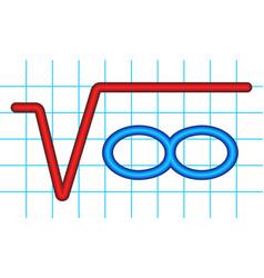 root of infinity vector image