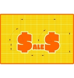 Sales draft style sticker vector