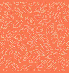 Seamless pattern with white leaves vector