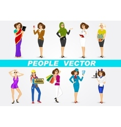 set of 10 professions vector image