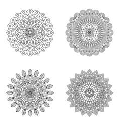 Set of floral mandalas vector