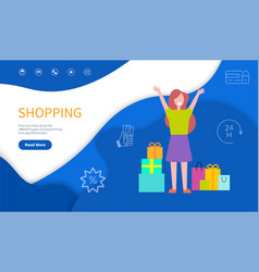 shopping types of programming and algorithm vector image