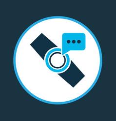 Smart watch notification icon colored symbol vector