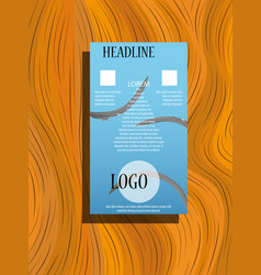 square annual report brochure flyer design vector image
