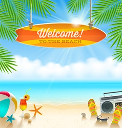 Summer holidays vacation vector