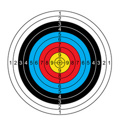 Target for sport archery vector
