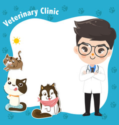 Template art for a veterinary clinic with a vector