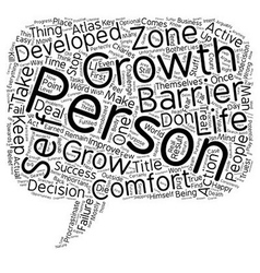 The Most Prominent Personal Growth Barriers text vector