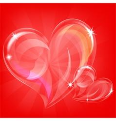 transparent hearts vector image