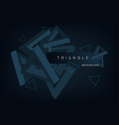 triangles 3d background vector image