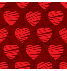 valentines day abstract seamless background vector image