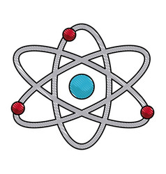 vatom molecule particle structure biology vector image
