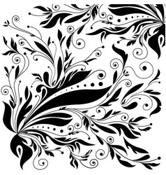 Vintage ornament black and white background vector