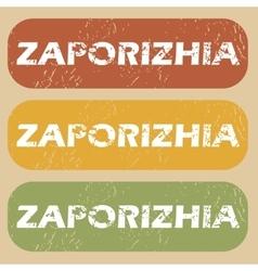 Vintage Zaporizhia stamp set vector image