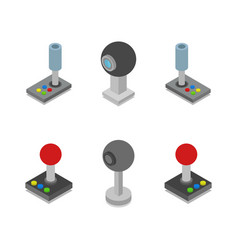 Web cam and joystick in on white background vector