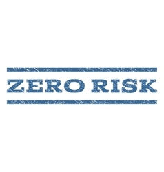 Zero Risk Watermark Stamp vector
