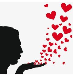 blowing heart vector image vector image