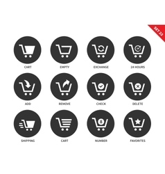 Cart icons on white background vector image vector image