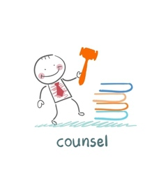 counsel knocking on the books vector image vector image