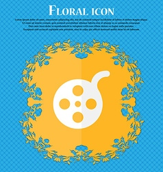 Film Floral flat design on a blue abstract vector image