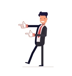 Satisfied businessman or manager indicates vector