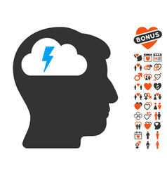 brainstorming icon with dating bonus vector image