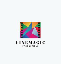 cinema magic abstract sign emblem or logo vector image