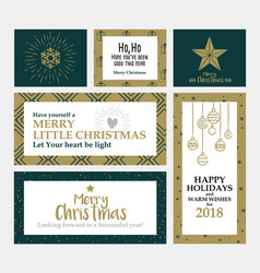 cristmas cards design 2 vector image vector image
