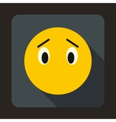 Emoticon without mouth icon flat style vector image