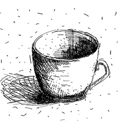 Scribble coffee cup isolated on white background vector image vector image