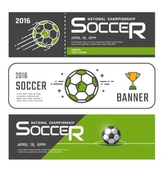 Set of soccer banners vector image vector image