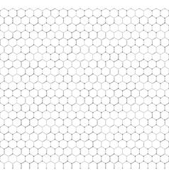 Chemistry seamless pattern hexagonal design vector image