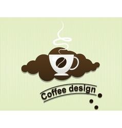 coffee cup flavor design background vector image