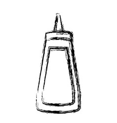 ketchup sauce bottle vector image