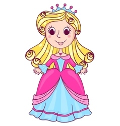 Little cute princess pink vector image