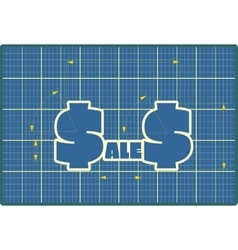 Sales draft design sticker vector image